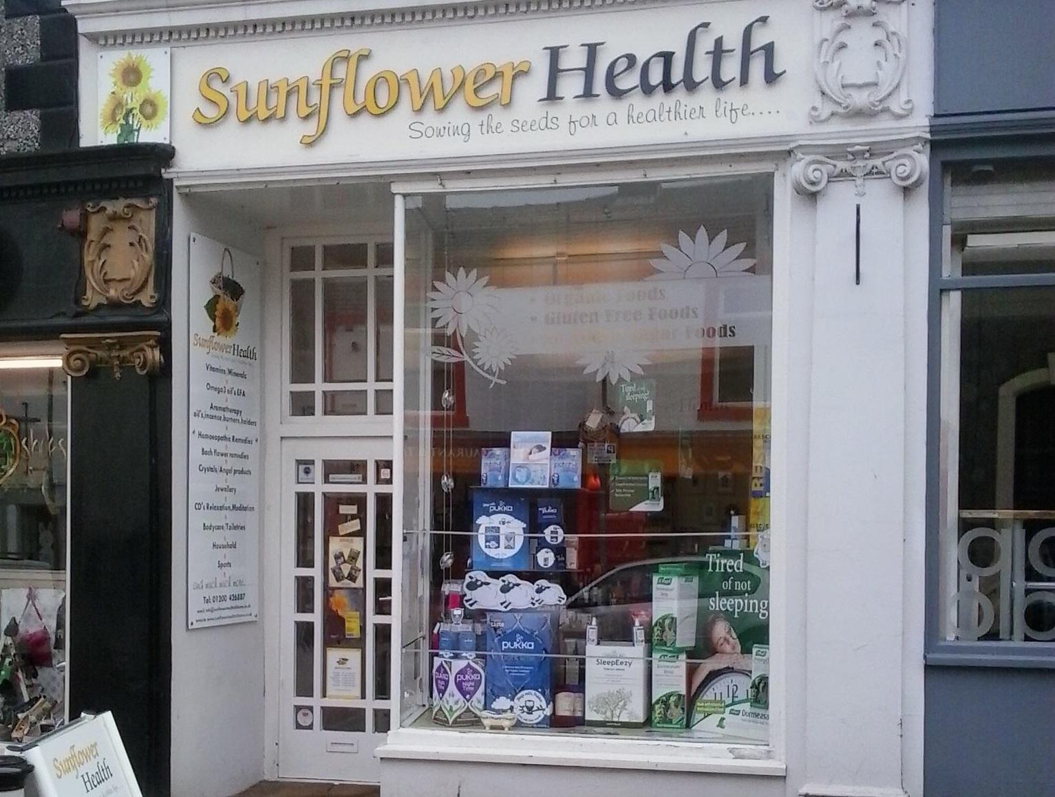 shop front view of Sunflower Health