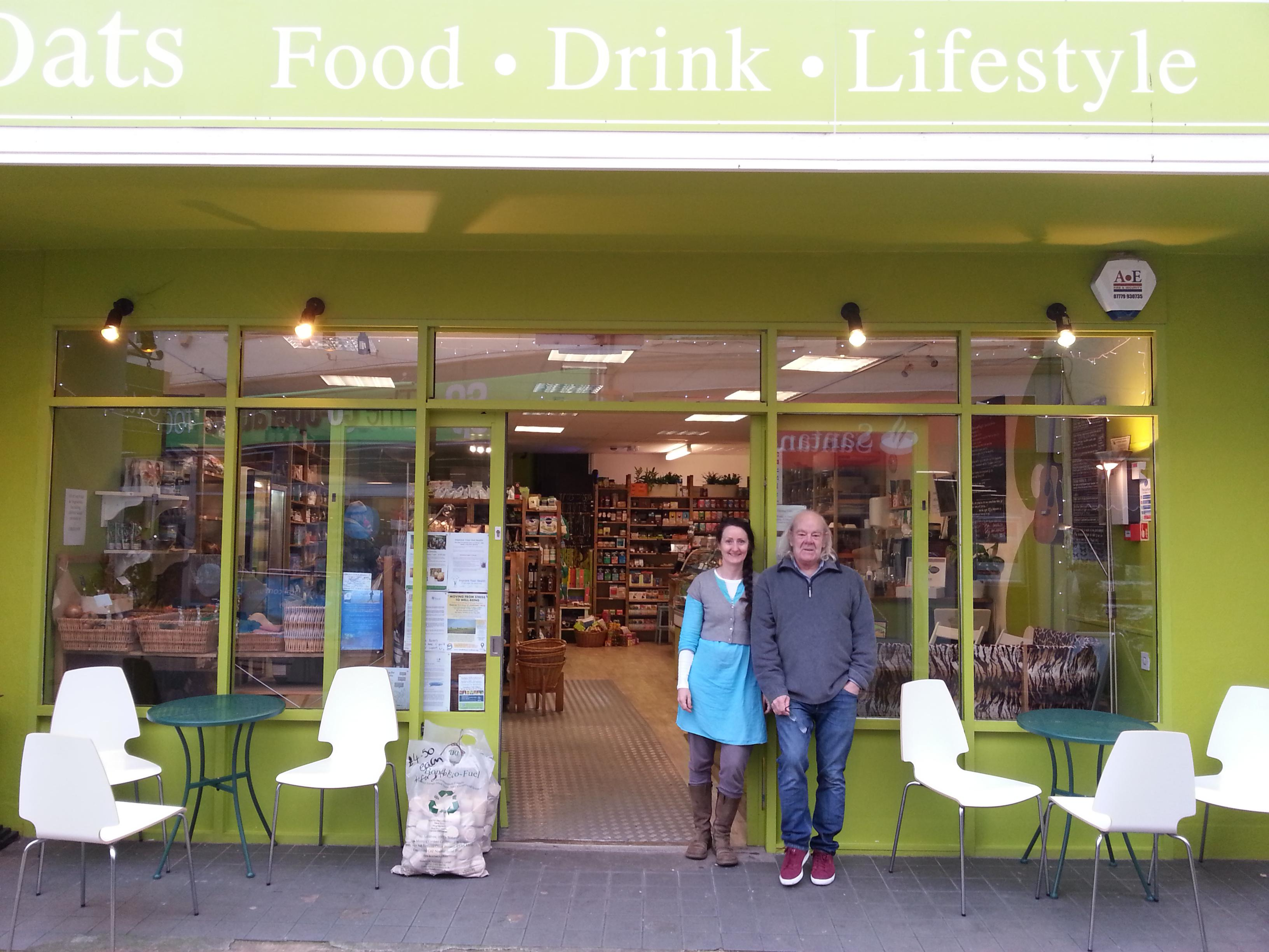 shop front view of Oats Healthy Living Store