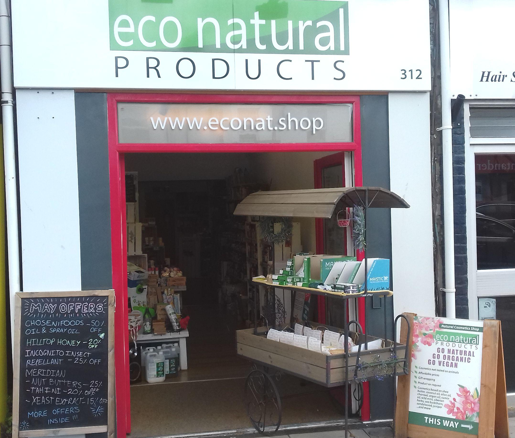 shop front view of Eco Natural Products