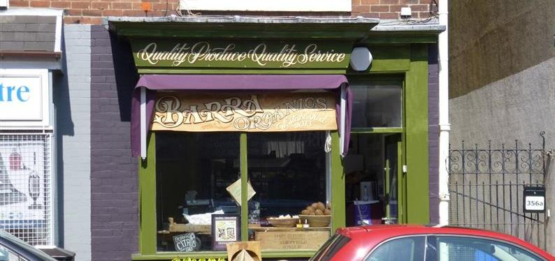 shop front view of Barra Organics
