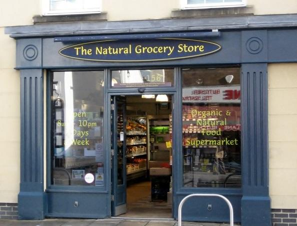 shop front view of The Natural Grocery Store