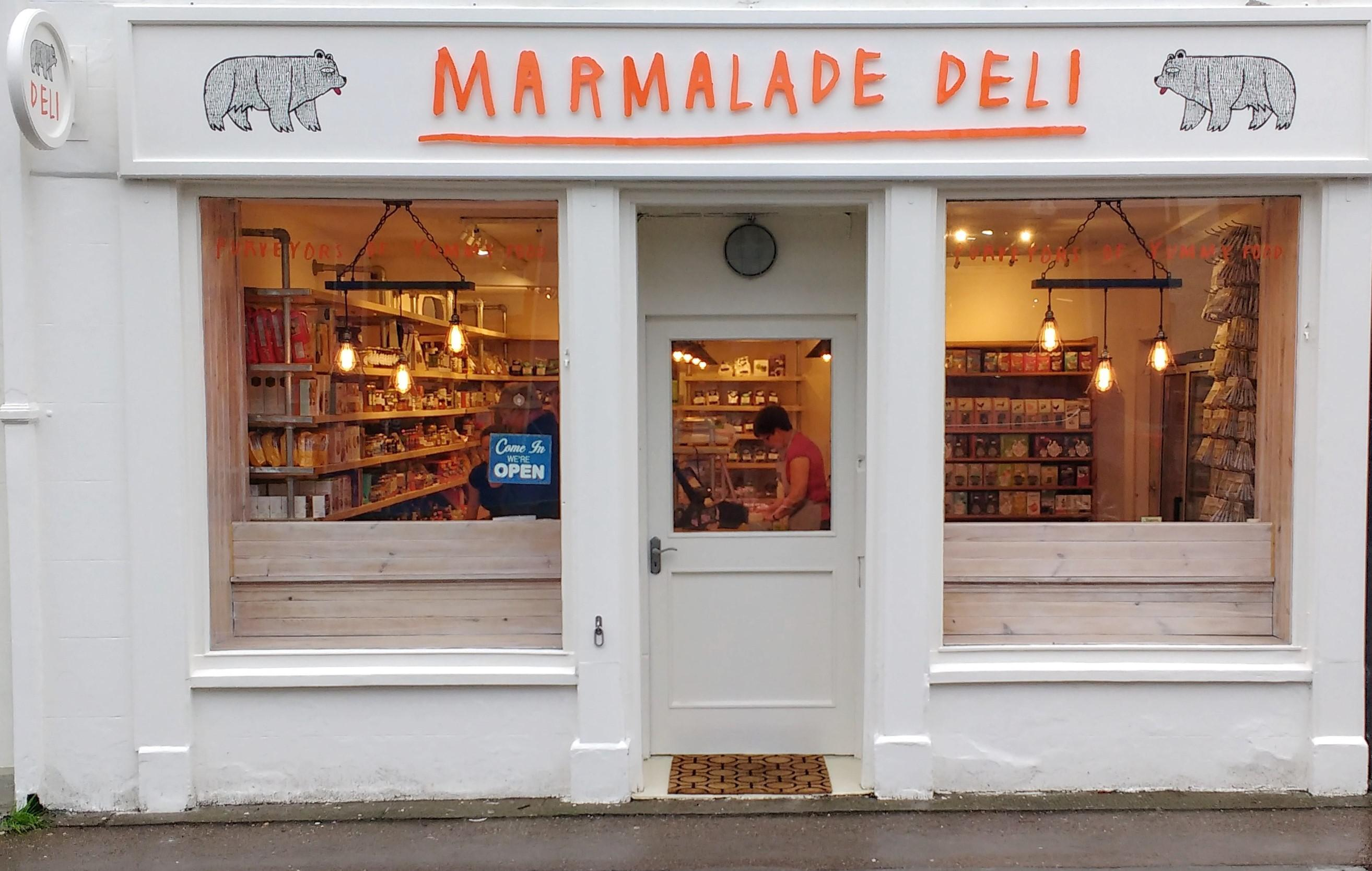 shop front view of Marmalade Deli