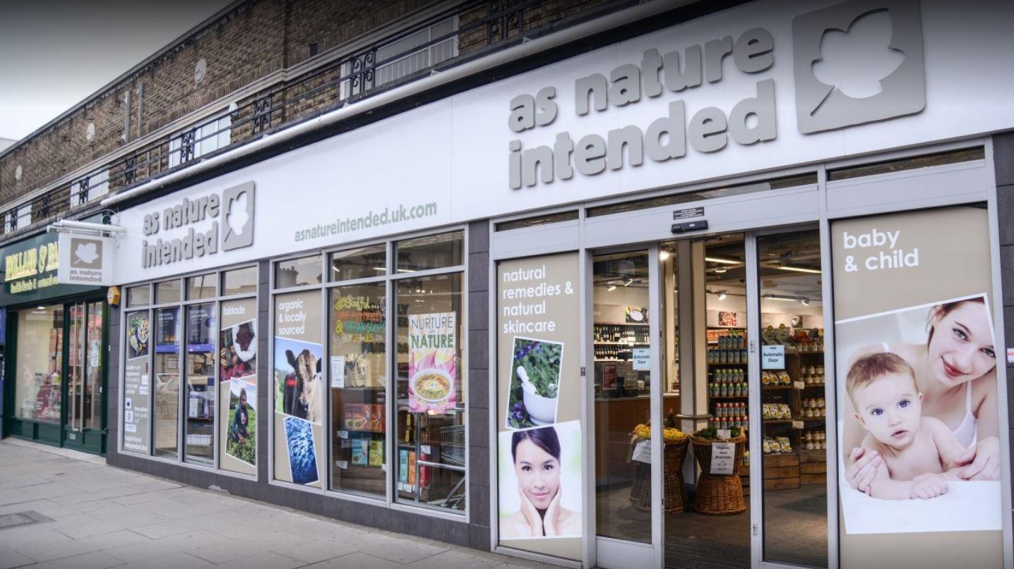 shop front view of As Nature Intended