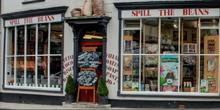 shop front view of Spill the Beans