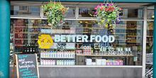 shop front view of Better Food
