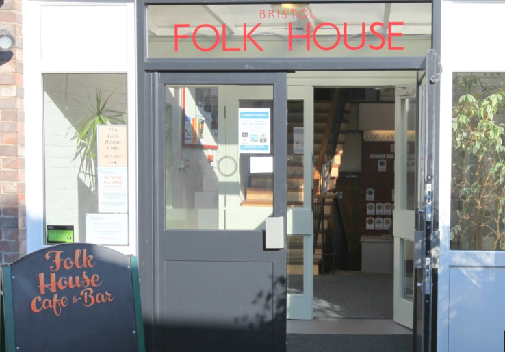shop front view of Folk House Café