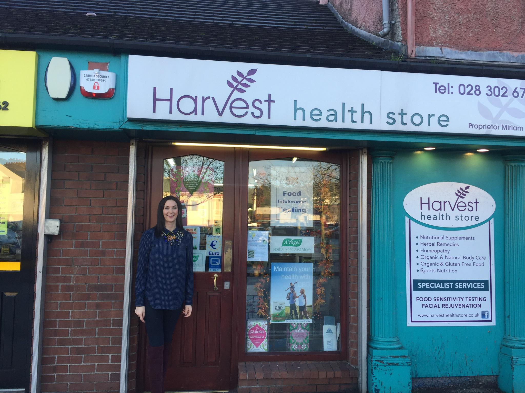 shop front view of Harvest Health Store