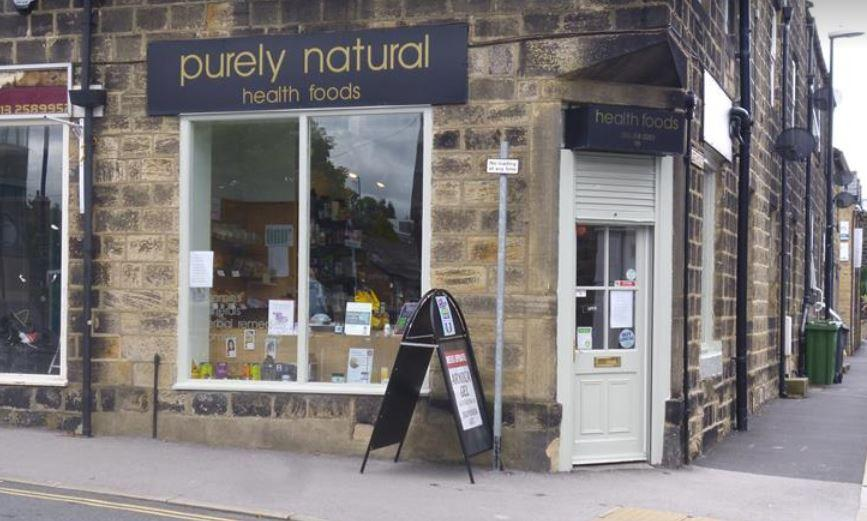 shop front view of Purely Natural