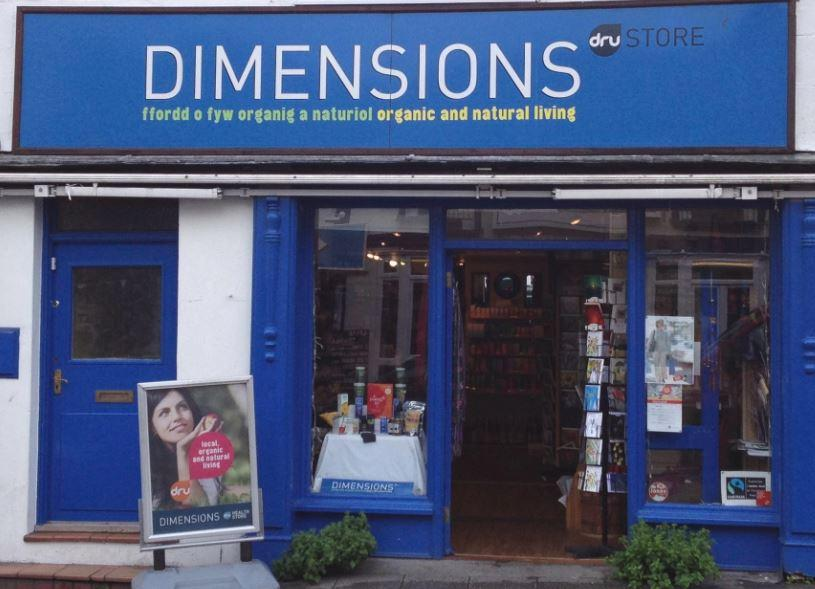 shop front view of Dimensions