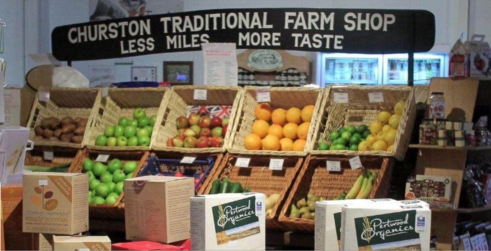 shop front view of Churston Farm Shop