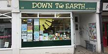 shop front view of Down to Earth