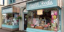 shop front view of Eatwell Foods