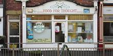 shop front view of Food For Thought