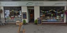 shop front view of Garlands Organic