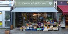 shop front view of Gratitude Tree Grocers