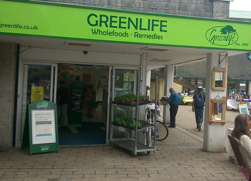 shop front view of Green Life