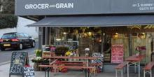 shop front view of Grocer and Grain