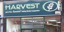 shop front view of Harvest