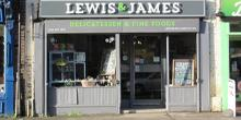 shop front view of Lewis & James