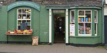 shop front view of The Little Green Wholefood Shop