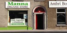 shop front view of Manna Organic Store