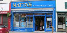 shop front view of Matta's International Foods