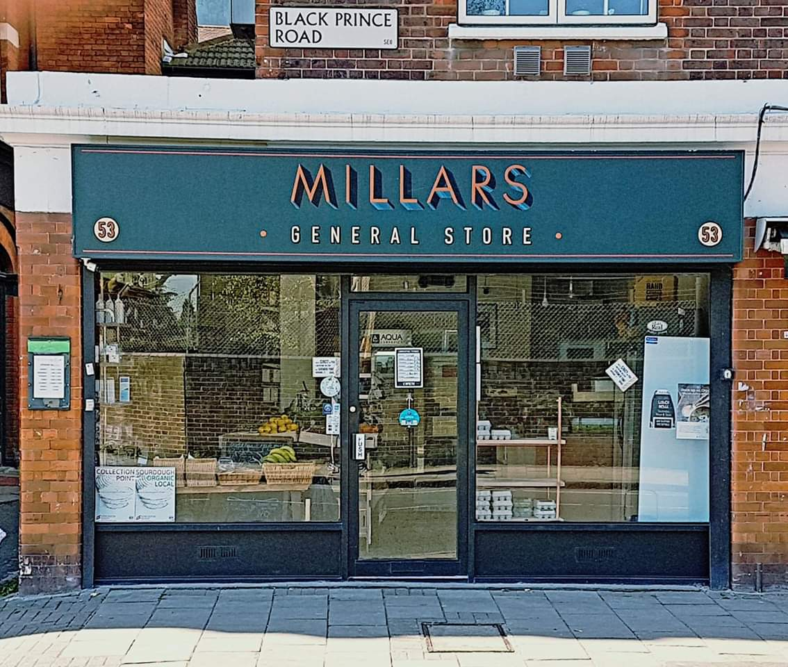 shop front view of Millars General Store