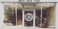 shop front view of Moo and Two