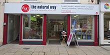 shop front view of The Natural Way