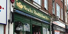 shop front view of Noah's Health