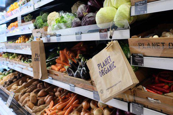 shop front view of Planet Organic - Islington