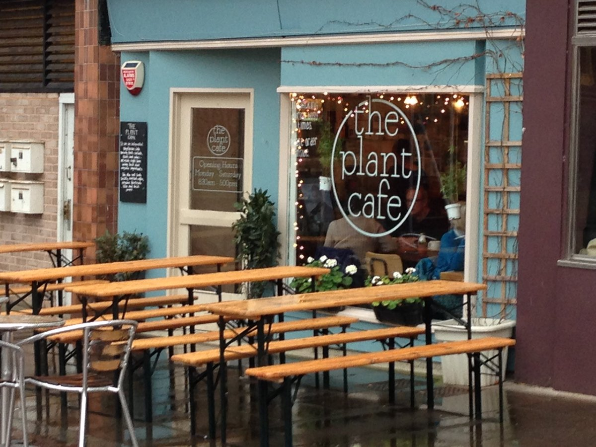 shop front view of The Plant Cafe