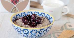 Presentation photo of Power Porridge with Blueberry Compote