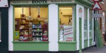 shop front view of Roots Natural Foods