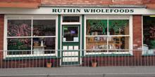 shop front view of Ruthin Wholefoods