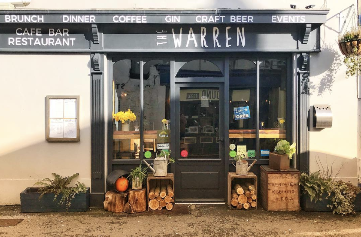 shop front view of The Warren