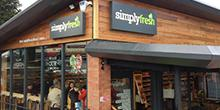 shop front view of Simply Fresh