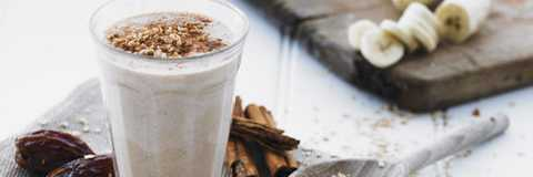 Presentation photo of Banana, oat and date smoothie