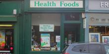 shop front view of Stirling Health Food Store